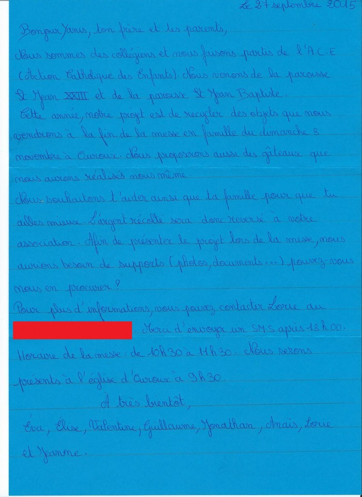 lettre a yanis